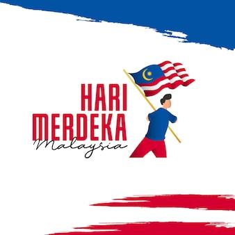 Modelo de banners do dia da independência da malásia