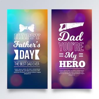 Modelo de banners do dia dos pais turva