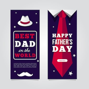 Modelo de banners do dia dos pais