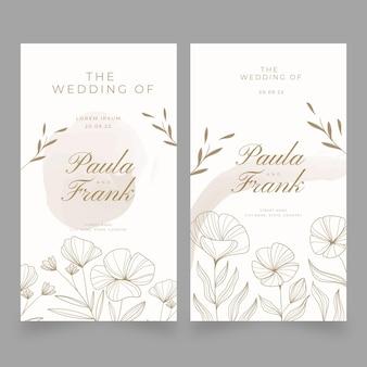 Modelo de banners florais de casamento