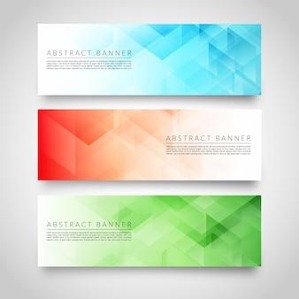 Modelo de banners geométricas abstratas modernas