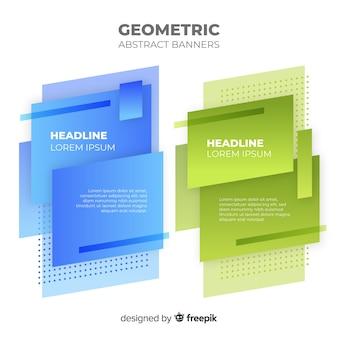 Modelo de banners geométricos coloridos
