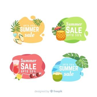 Modelo de banners líquido de venda de verão