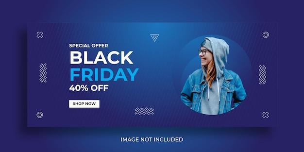 Modelo de banners para venda de moda da black friday