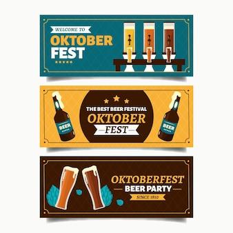 Modelo de banners vintage oktoberfest
