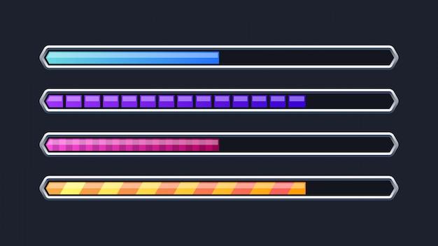 Modelo de barra de progresso colorido