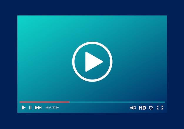 Modelo de barra do player de vídeo