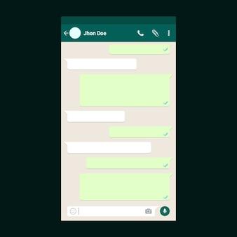 Modelo de bate-papo whatsapp