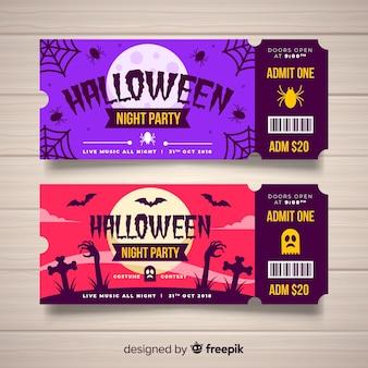 Modelo de bilhete de halloween criativo