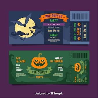 Modelo de bilhete de halloween