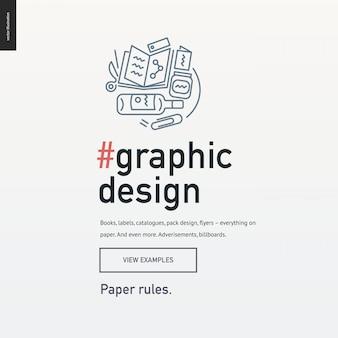Modelo de bloco de design gráfico para um design de web site