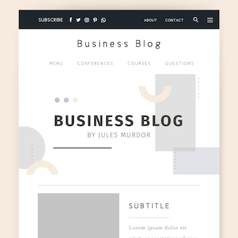 Modelo de blog de negócios
