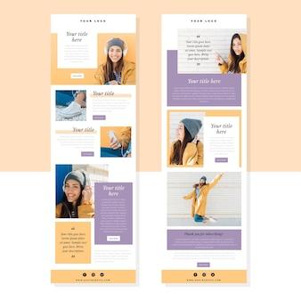 Modelo de boletim informativo por e-mail do blogger