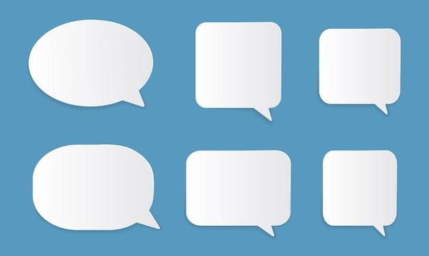 Modelo de bolhas de discurso isolado no fundo branco. ilustração
