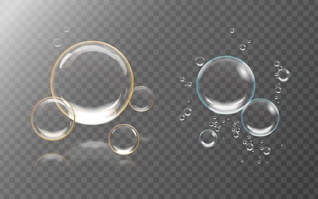 Modelo de bolhas isolado em fundo transparente