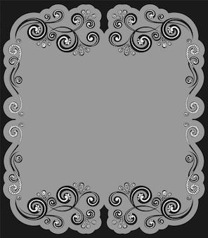 Modelo de borda caligráfica decorativa vintage para certificados de cartões comemorativos e menu
