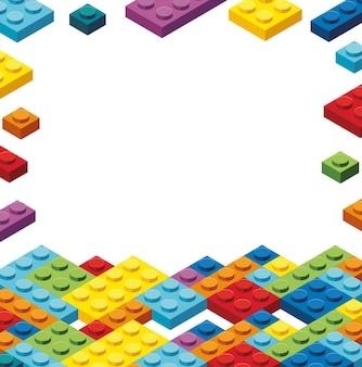 Modelo de borda com blocos coloridos