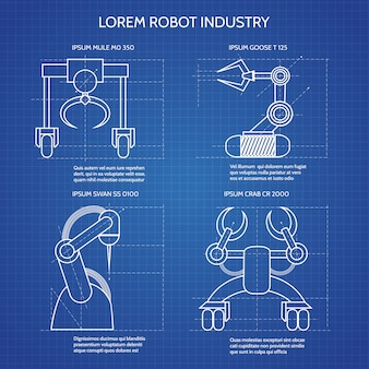 Modelo de braços de robô
