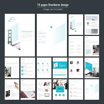 Modelo de brochura - 16 páginas de negócios