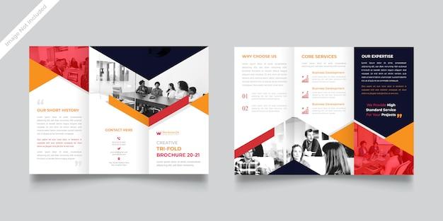 Modelo de brochura - agência com três dobras