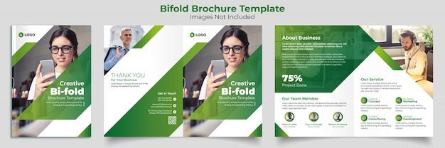 Modelo de brochura - bifold