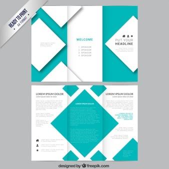 Modelo de brochura com quadrados