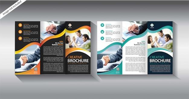 Modelo de brochura com três dobras