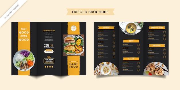 Modelo de brochura - comida com três dobras