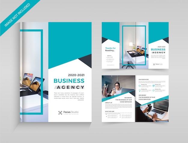 Modelo de brochura corporativa bi-fold