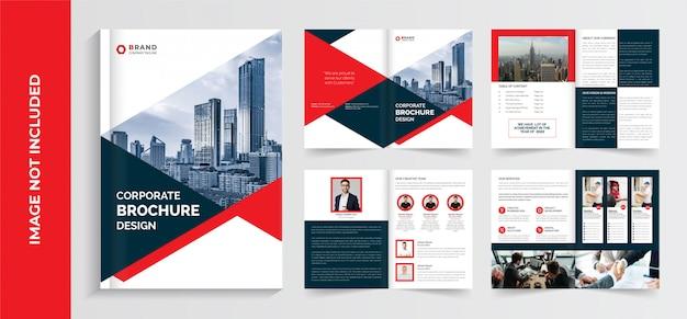 Modelo de brochura corporativa, modelo de brochura de perfil de empresa, design de modelo de folheto de negócios, design de modelo de folheto de páginas