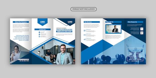 Modelo de brochura - corporativo a4 com três dobras