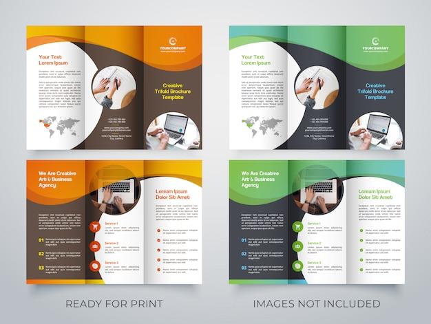 Modelo de brochura - criativo com três dobras
