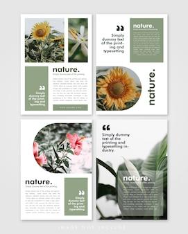 Modelo de brochura da lookbook nature pack