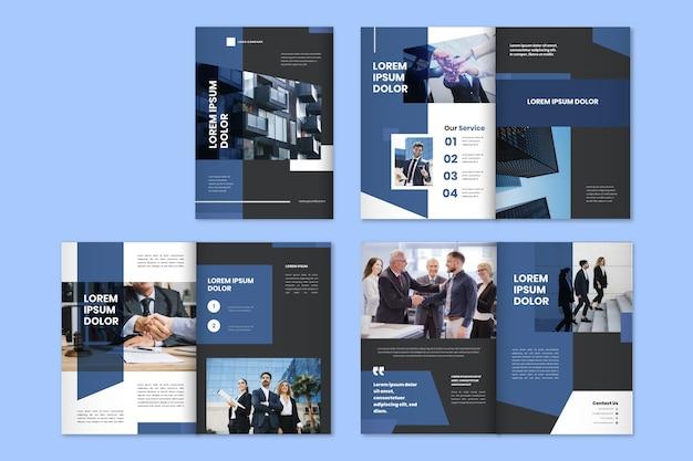 Modelo de brochura de negócios modernos