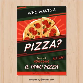 Modelo de brochura de pizza