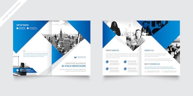 Modelo de brochura - dobra dupla