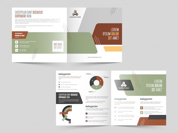 Modelo de brochura - dupla dobra