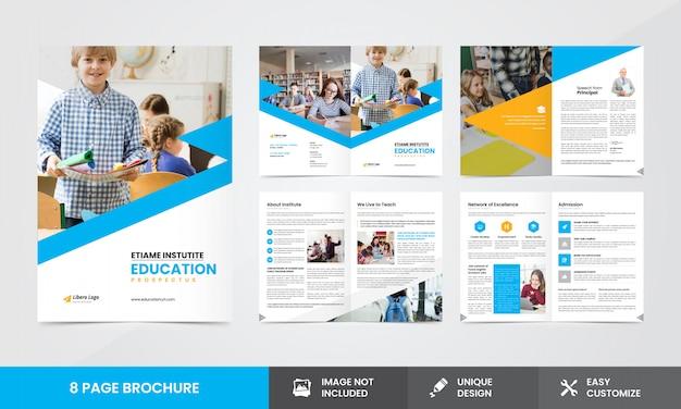 Modelo de brochura - empresa de educação