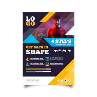 Modelo de brochura - esporte