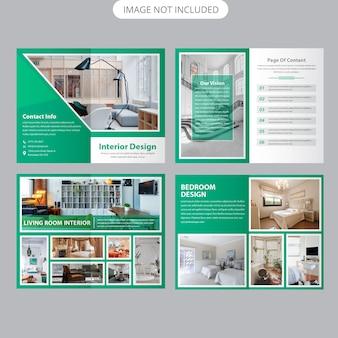 Modelo de brochura - interior