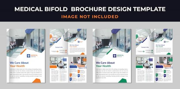 Modelo de brochura - médica bifold
