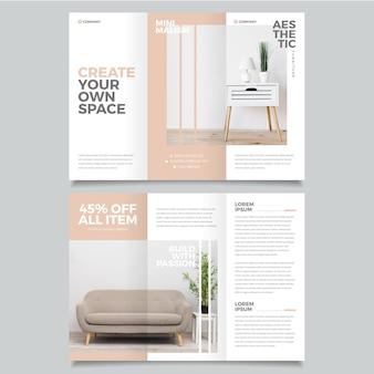 Modelo de brochura mínima com foto