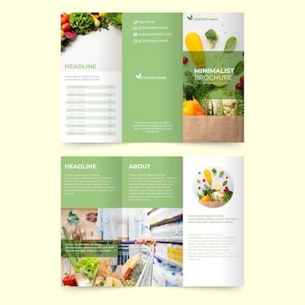 Modelo de brochura mínima