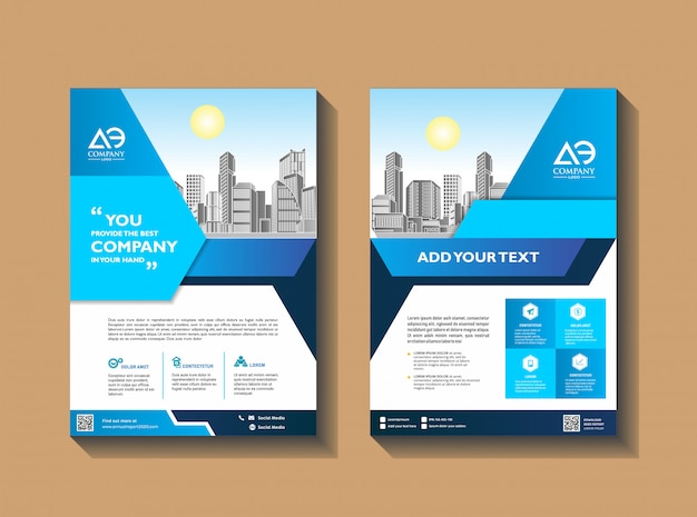 Modelo de brochura - modelo de panfleto - layout de revista revista anual relatório
