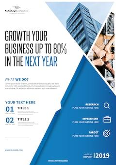 Modelo de brochura - negócio elegante
