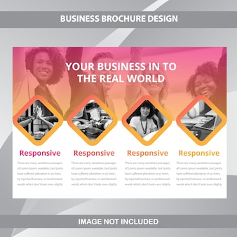 Modelo de brochura - negócio horizontal