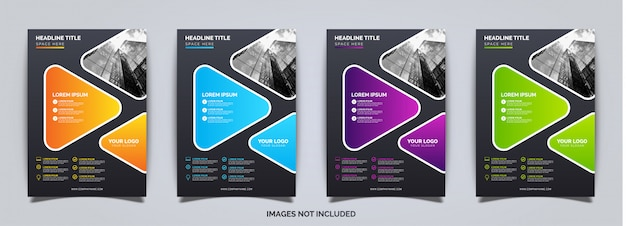 Modelo de brochura - negócios coloridos