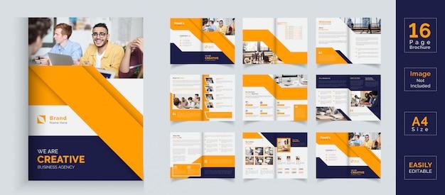 Modelo de brochura - negócios corporativos laranja