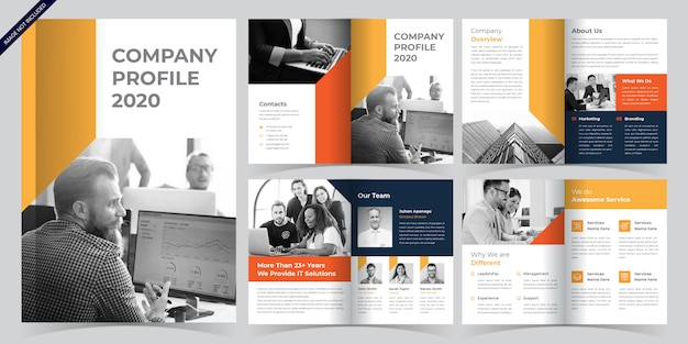 Modelo de brochura - páginas de negócios
