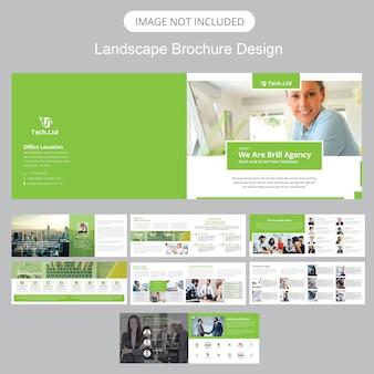Modelo de brochura - paisagem